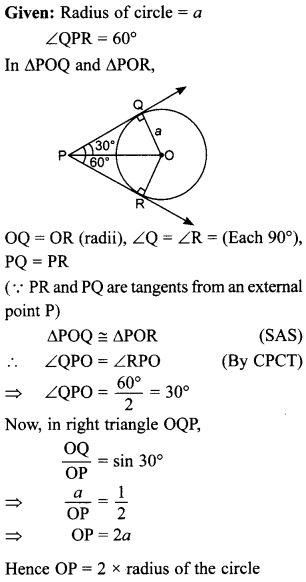 MCQ Questions for Class 10 Maths Circles with Answers 29
