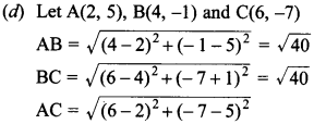 MCQ Questions for Class 10 Maths Coordinate Geometry with Answers 20