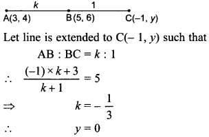 MCQ Questions for Class 10 Maths Coordinate Geometry with Answers 34
