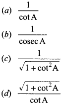 MCQ Questions for Class 10 Maths Introduction to Trigonometry with Answers 17