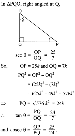 MCQ Questions for Class 10 Maths Introduction to Trigonometry with Answers 25