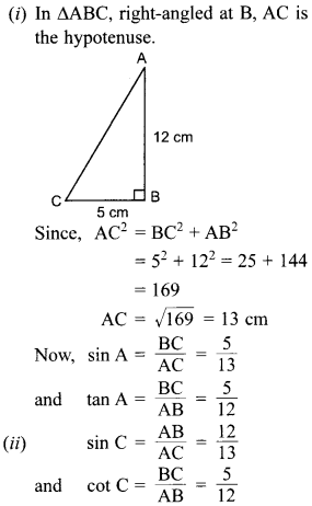 MCQ Questions for Class 10 Maths Introduction to Trigonometry with Answers 26