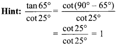 MCQ Questions for Class 10 Maths Introduction to Trigonometry with Answers 32