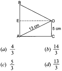 MCQ Questions for Class 10 Maths Introduction to Trigonometry with Answers 8
