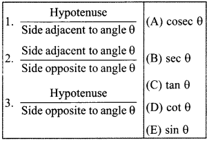 MCQ Questions for Class 10 Maths Introduction to Trigonometry with Answers 9