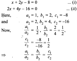 MCQ Questions for Class 10 Maths Pair of Linear Equations in Two Variables with Solutions 11