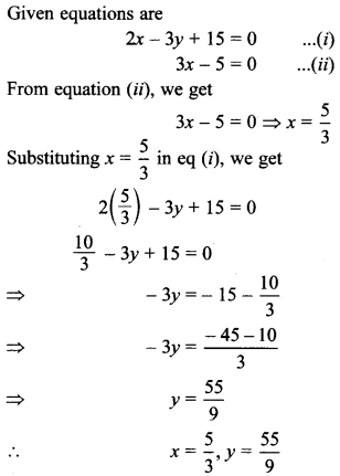 MCQ Questions for Class 10 Maths Pair of Linear Equations in Two Variables with Solutions 15