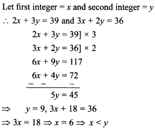 MCQ Questions for Class 10 Maths Pair of Linear Equations in Two Variables with Solutions 17