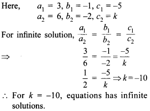 MCQ Questions for Class 10 Maths Pair of Linear Equations in Two Variables with Solutions 23