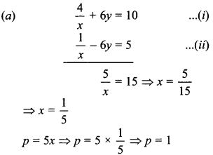 MCQ Questions for Class 10 Maths Pair of Linear Equations in Two Variables with Solutions 26
