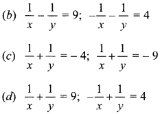 MCQ Questions for Class 10 Maths Pair of Linear Equations in Two Variables with Solutions 7