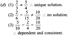 MCQ Questions for Class 10 Maths Pair of Linear Equations in Two Variables with Solutions 9