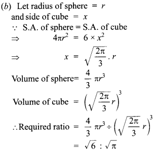 MCQ Questions for Class 10 Maths Surface Areas and Volumes with Answers 11