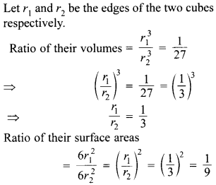 MCQ Questions for Class 10 Maths Surface Areas and Volumes with Answers 12