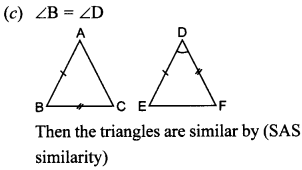 MCQ Questions for Class 10 Maths Triangles with Answers 10