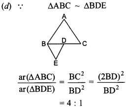 MCQ Questions for Class 10 Maths Triangles with Answers 14
