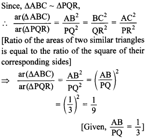 MCQ Questions for Class 10 Maths Triangles with Answers 16