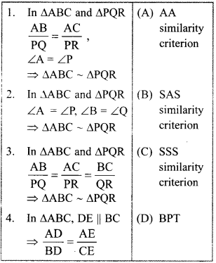 MCQ Questions for Class 10 Maths Triangles with Answers 4