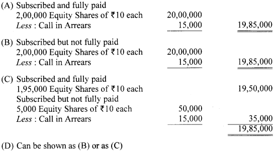 Accountancy MCQs for Class 12 with Answers Chapter 10 Financial Statements of Companies