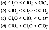 Chemistry MCQs for Class 12 with Answers Chapter 7 The p-Block Elements 3