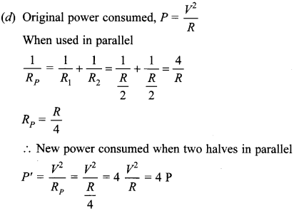 MCQ Questions for Class 10 Science Electricity with Answers 17