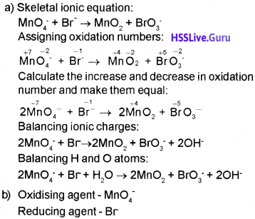Plus One Chemistry Chapter Wise Questions and Answers Chapter 8 Redox Reactions 14