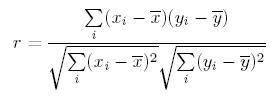 Pearson Correlation Formula